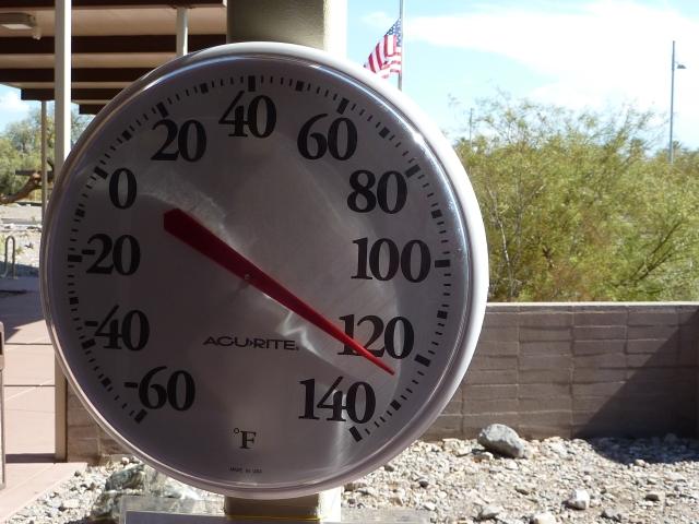 50 Grad im Schatten