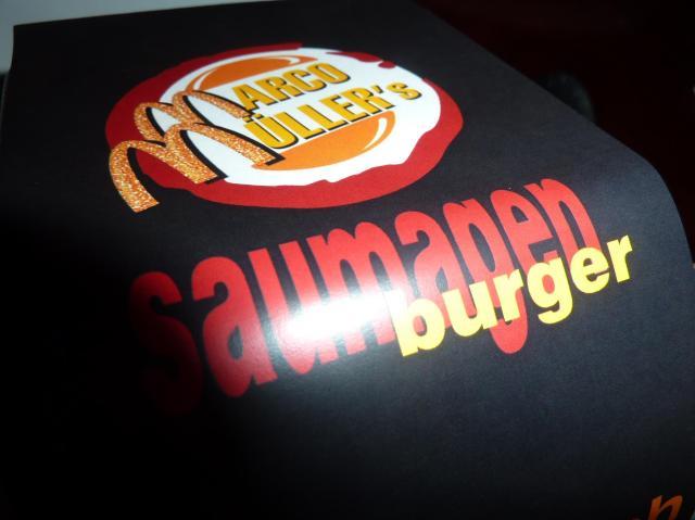 Saumagen Burger mit dem doppelten M