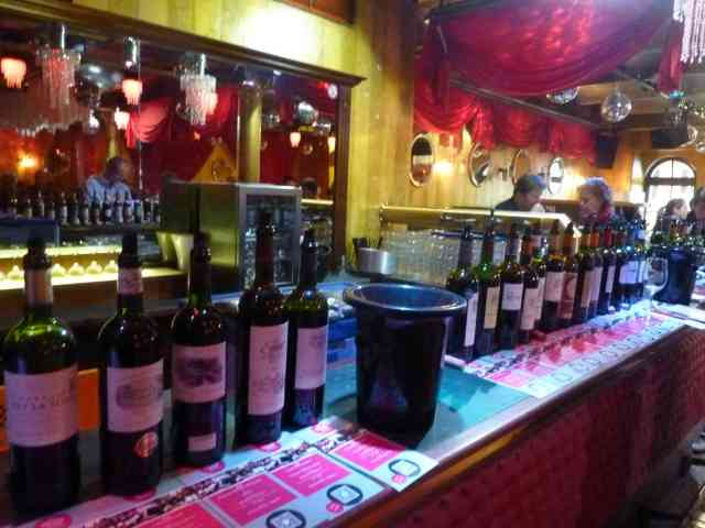 Opulente Weinauswahl